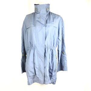 Light Weight Pockets Hidden Hood Jacket Nylon